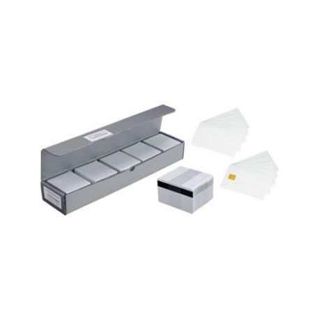 Plastikowe karty RFID Zebra, 30mil, białe (100pack)