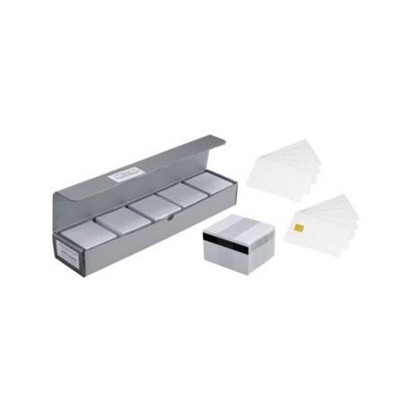 Karty Zebra Premier Plus Magnetic Card z paskiem magnetycznym Hi-Co, białe (500pack)